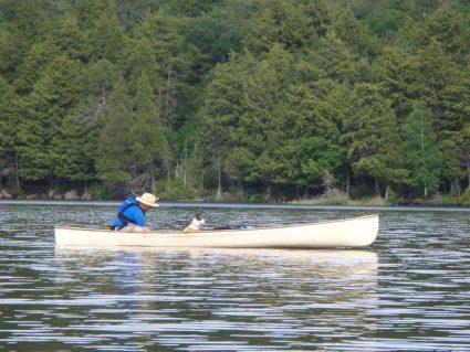 Borrowing Steve's canoe